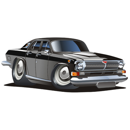vector cartoon: Vector cartoon classico auto