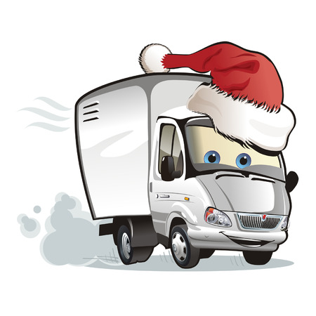 moving van: Christmas delivery truck