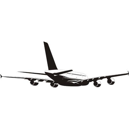 jetliner: A 380 Lagest Jetliner silhouette