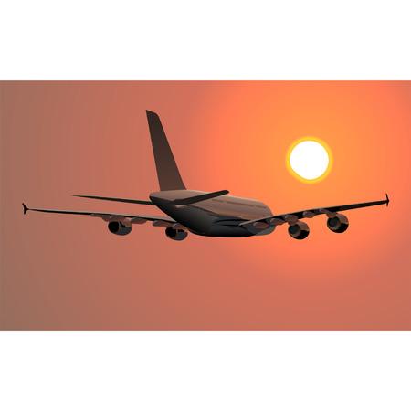 Vector A-380 Lagest Jetliner Illustration