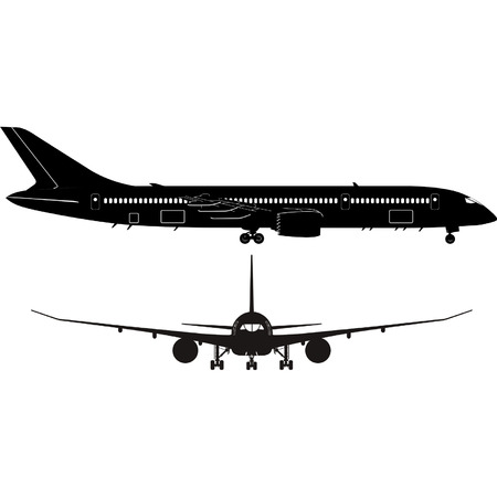 boeing: Vector Passenger Jet Boeing 787