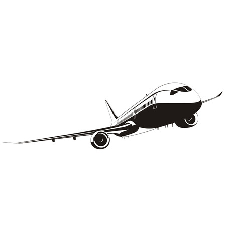 jetliner: Vector Boeing-787 Jetliner silhouette