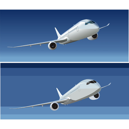 boeing: Vector passenger DreamLiner 787 Illustration