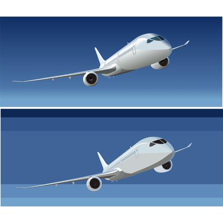 Vector passenger DreamLiner 787 Illustration