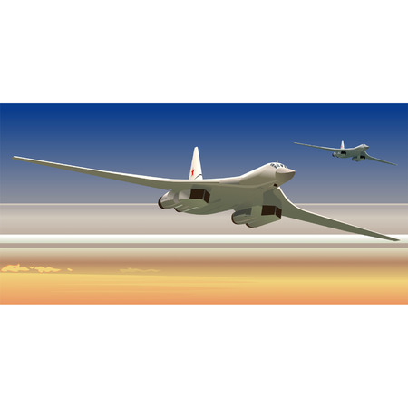 Vector strategic bombers TU-160 Vector