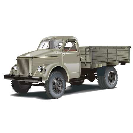 old truck: Vector retro lorry