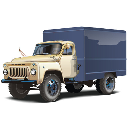 Vector classic russian lorry Stock Vector - 4102277