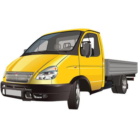 gaz: Vector deliverycargo truck