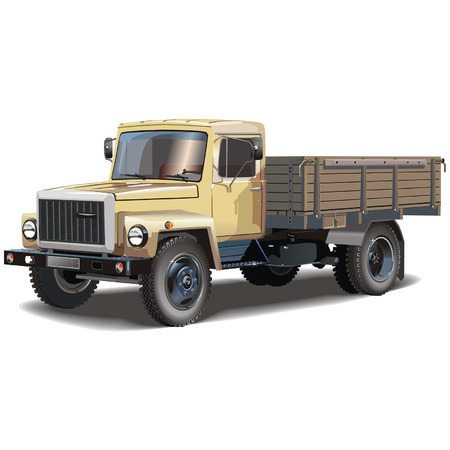 trucker: Vector typical russian lorry