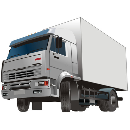 truck engine: Vector cargo truck