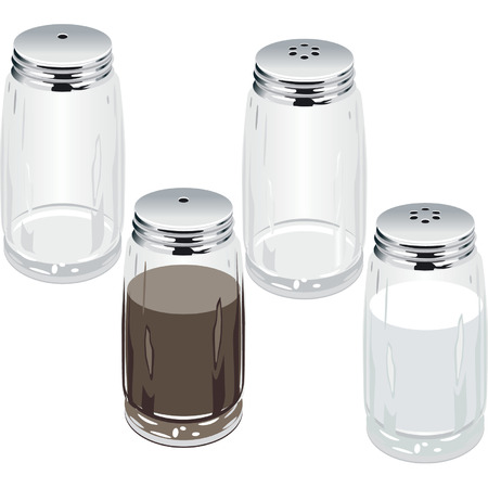 condiments: Vector salt & pepper shakers