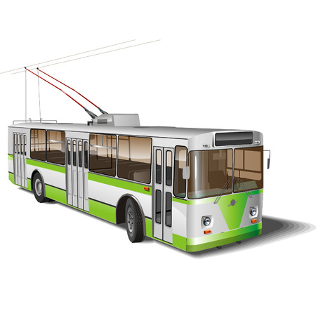 trolleybus: Vector Urban trolleybus isolated Illustration