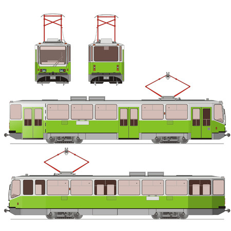 communal: Vector City Tram Illustration