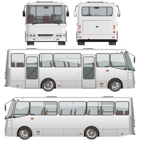 Vector urbain de passagers des mini-bus Vecteurs