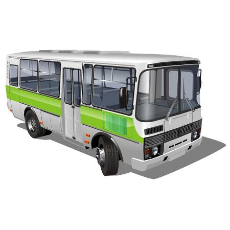 motor de carro: vector de zonas urbanas y suburbanas de pasajeros mini-bus