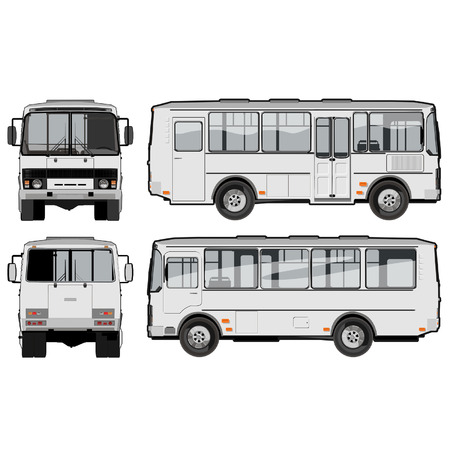 vector urbansuburban passenger mini-bus Vector