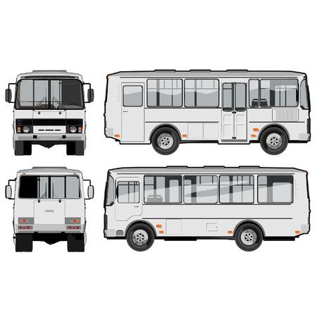 minibus: vector urbansuburban passenger mini-bus