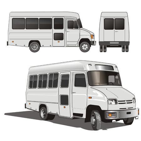 Vector City Mini-Bus Vector