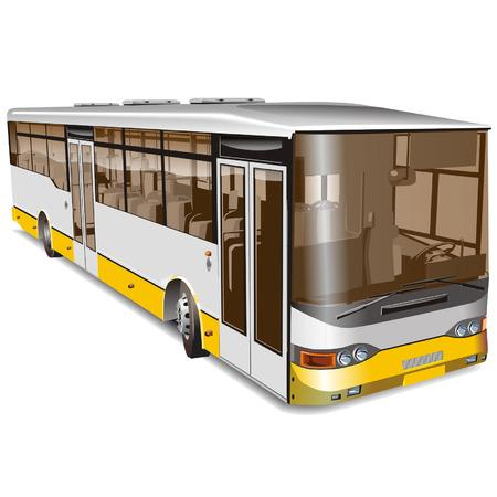 ausflug: Vector City-Bus isoliert