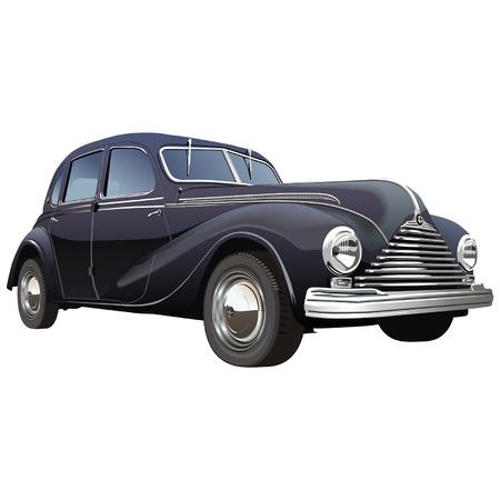 silueta coche: Vector de coches de �poca