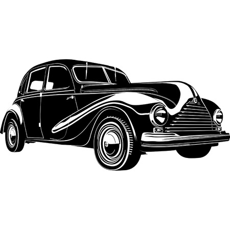 old fashioned: Vector retro car