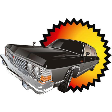 Vector retro limo Stock Vector - 4177785