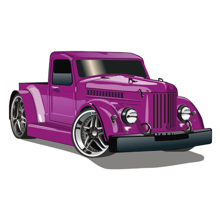 purple car: Purple GAZ Hot Rod