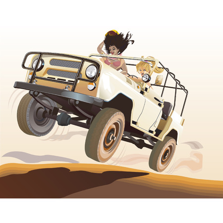 off road: vector Russian jeep Illustration