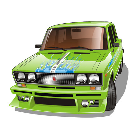 tune: vector tuned car Illustration
