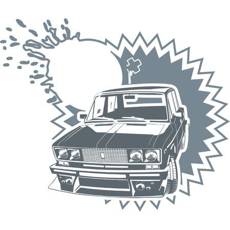 russian car: Vector car simbol 1