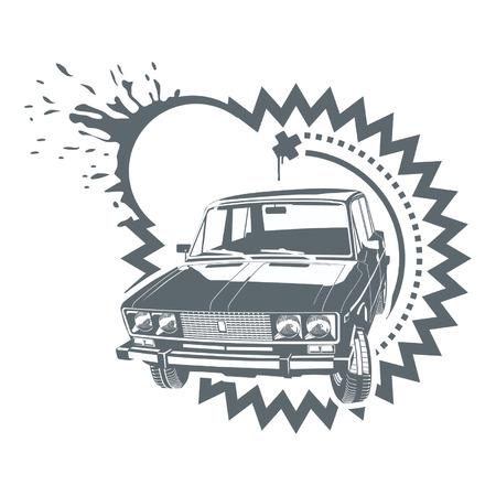 russian car: Vector car simbol 2
