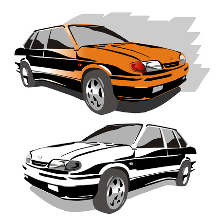 autosport: vector car Illustration