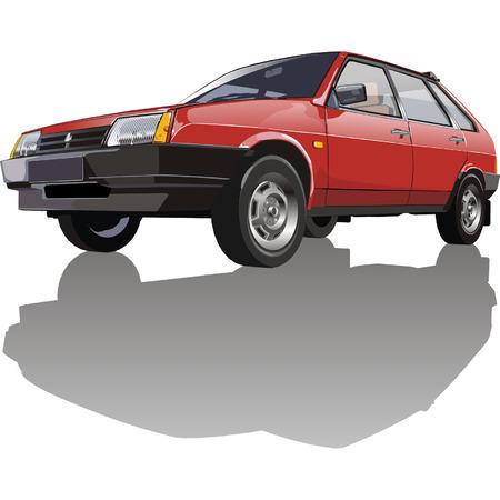 russian car: Vector Red Lada