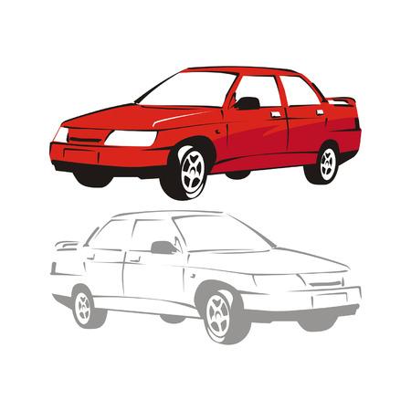 vector cartoon car Stock Vector - 4180997