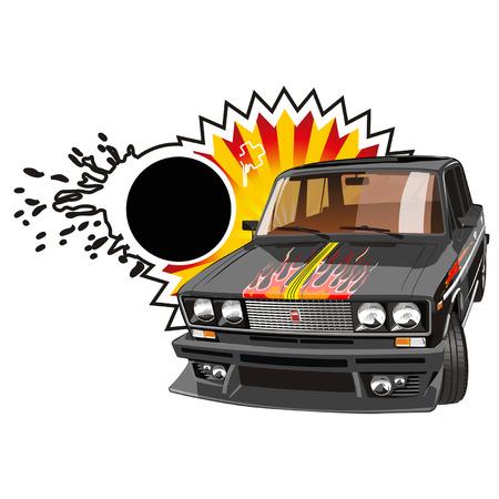 tuned: Vector tuned black car Illustration