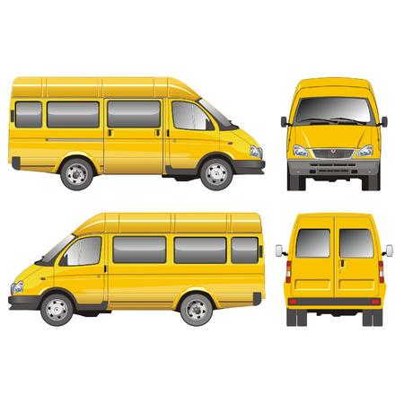 mini bus: Vector mini-bus GAZ-2705 taxi