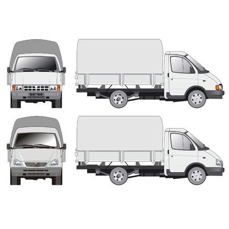 remolques: Vector de entrega y carga de camiones