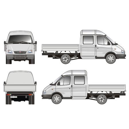 gaz: Vector Delivery  Cargo Truck