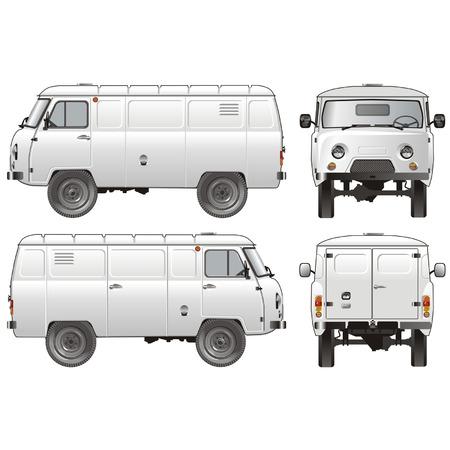 Vector delivery / cargo van 4x4 Stock Vector - 4187642