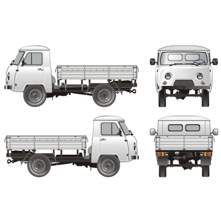 Vector delivery  cargo pick-up 4x4 Vector