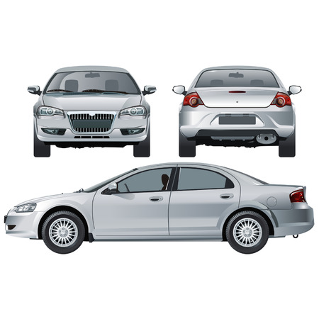 """Illustrazione di vettore russo moderno auto Volga """"Siber"""" Vettoriali"""