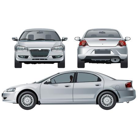 """Ilustración vectorial coche moderno ruso Volga """"Siber"""" Ilustración de vector"""
