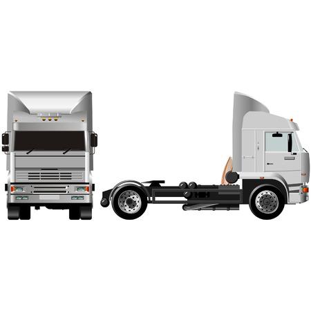 Vector heavy semi-truck Vector