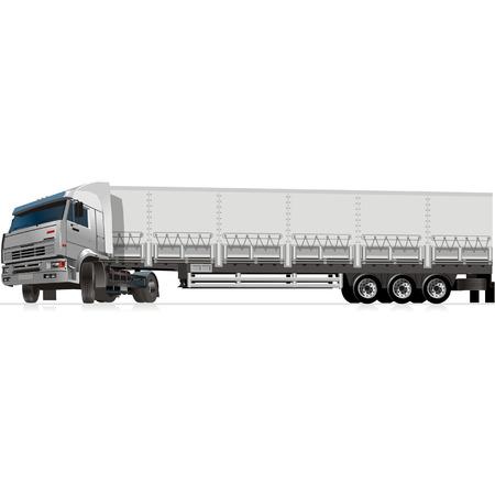 Vector cargo semi-truck Illustration