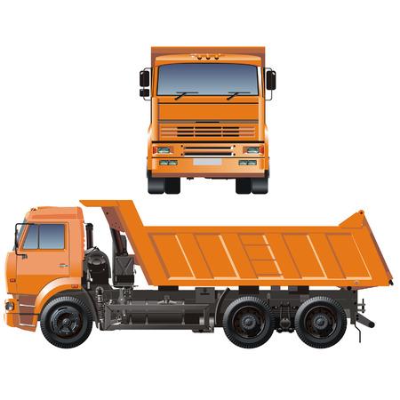 ダンプ: ベクトル ダンプ トラック  イラスト・ベクター素材