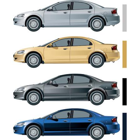 gaz: Vector car Volga-Siber  Illustration