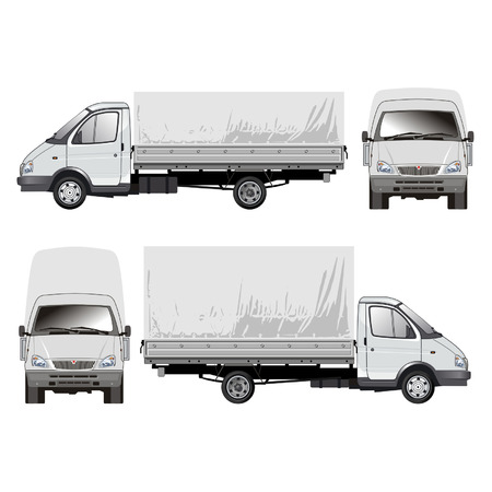 Delivery  cargo truck 1 Vector