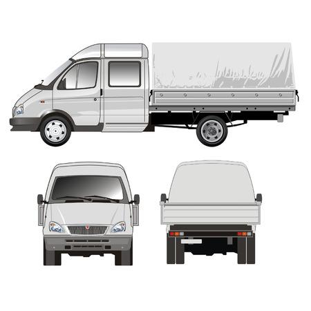 gaz: Delivery  cargo truck Illustration