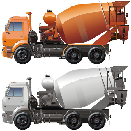 Vector cement truck KAMAZ Illustration