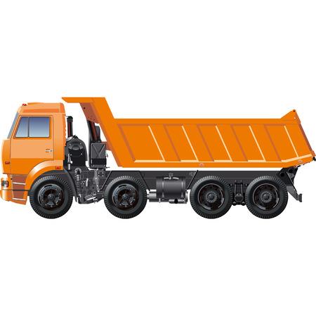 dump truck: Vector dump truck KAMAZ